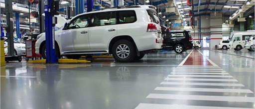 Industrial Flooring - motor vehicle manufacturing