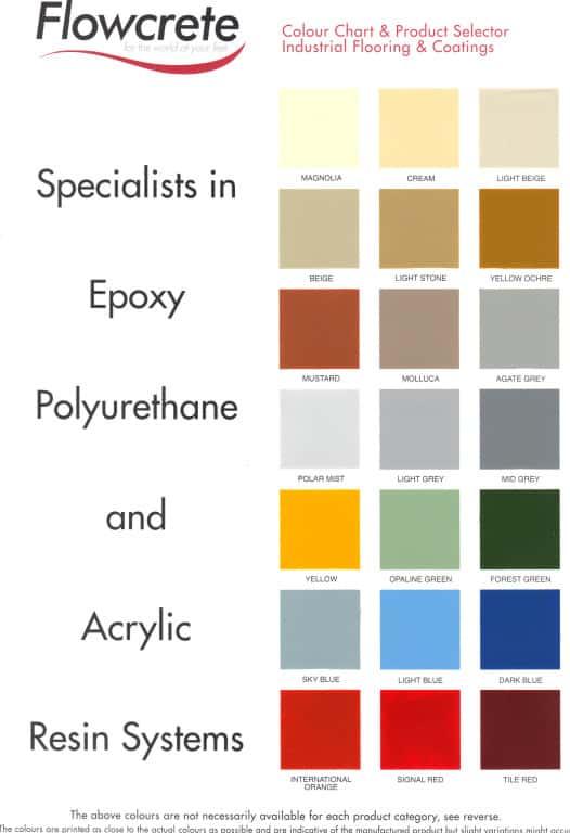 Epoxy & Polyurethane Colours